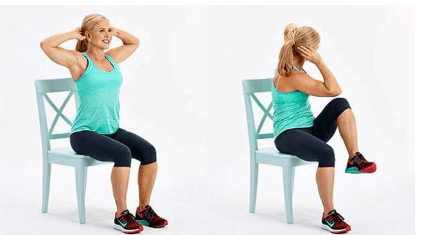 exercício na cadeira para barriga lisa expert fitness
